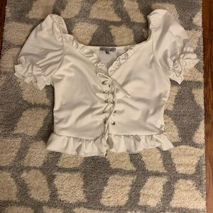 NWOT white crop top